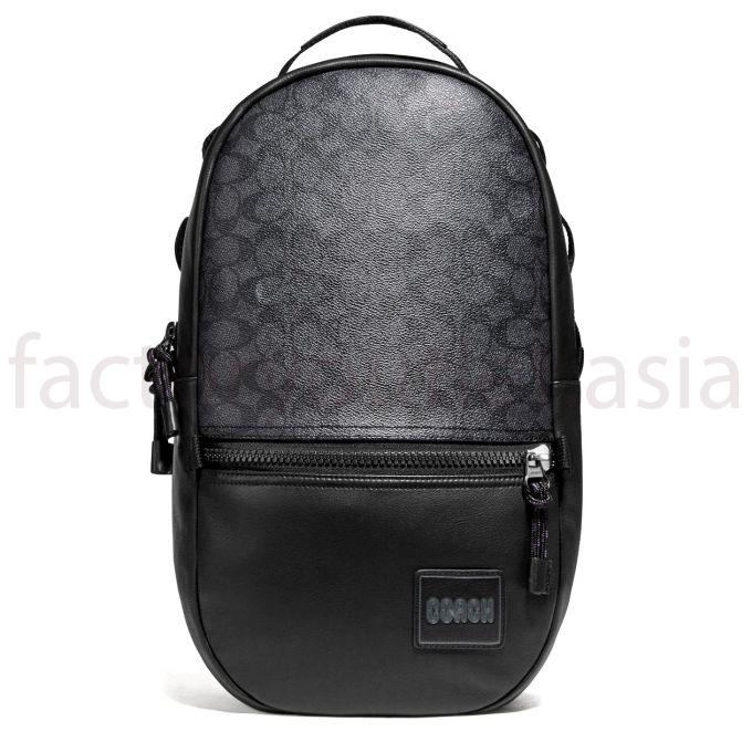 Balo - Coach đứng Signature Canvas DS Đen 1