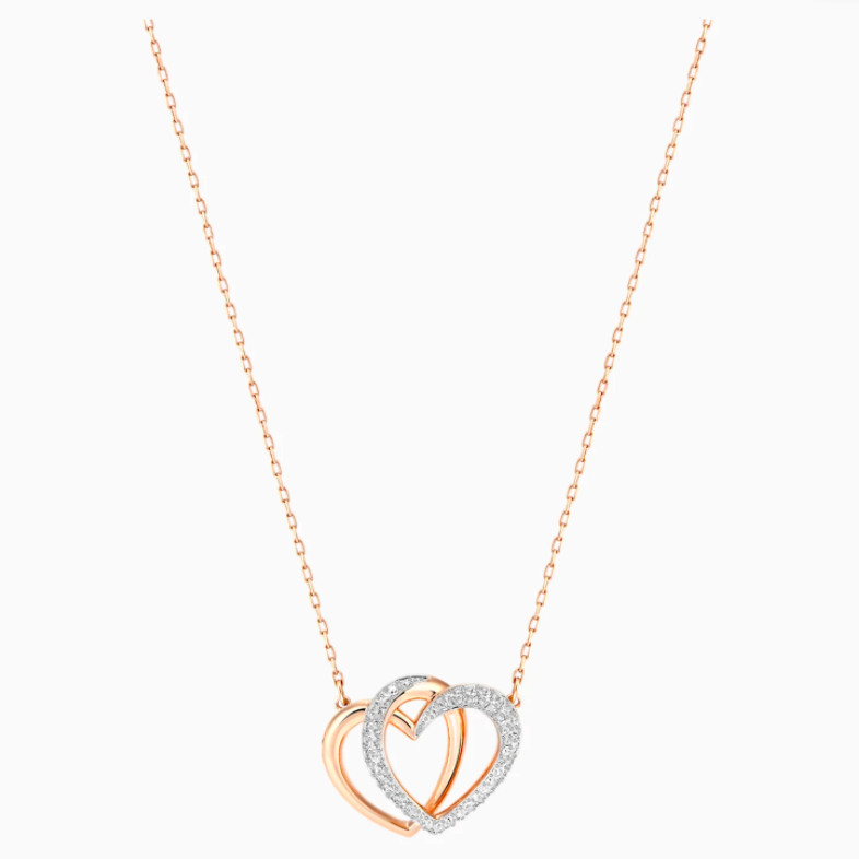 Swarovski Dear Heart Necklace - Rose gold 1