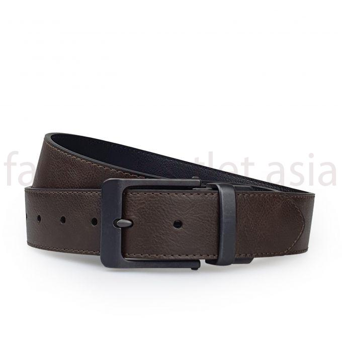 Levis belt buckle with smooth leather trim - DS Brown 1