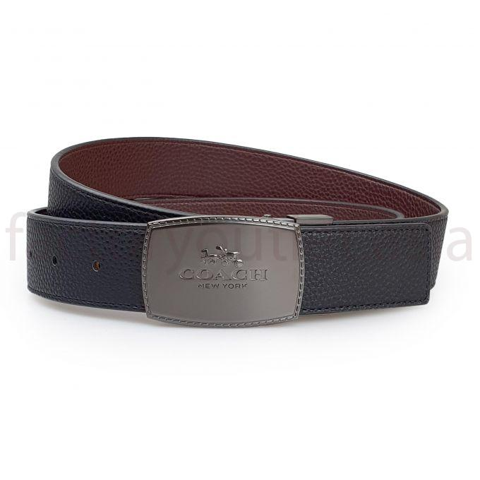 Coach 2 buckles belts - DS Black 1