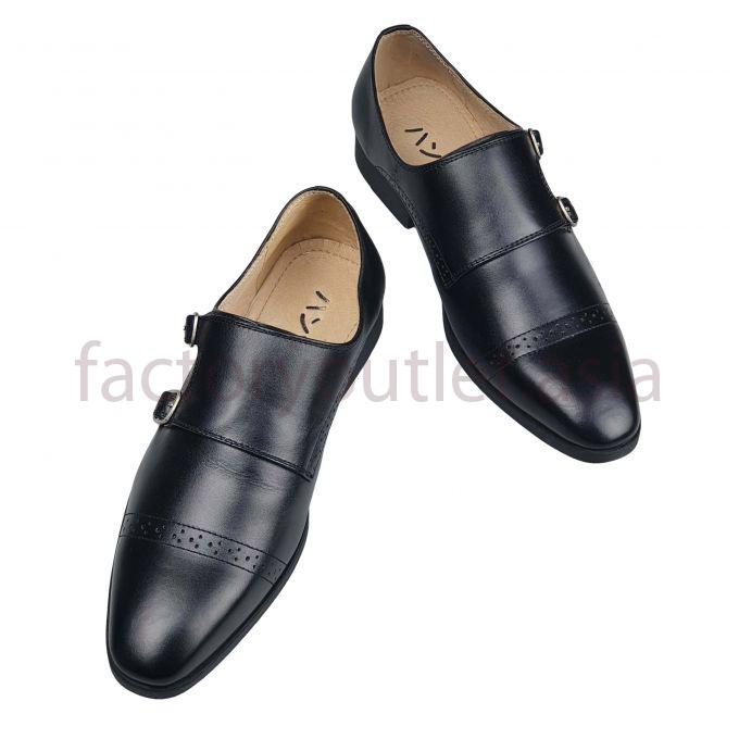 Hansamu monk strap loafers - HI Black 1