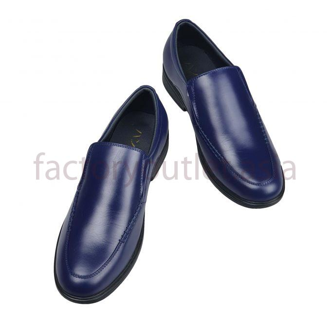 Men's patent loafers Hansamu - HI Navy blue 1