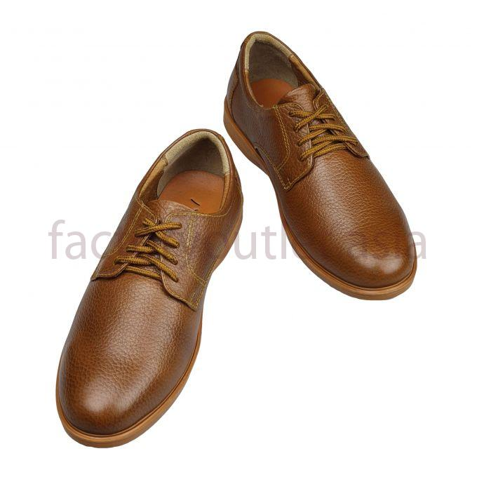 Hansamu leather derby - NG 4 eyelets HSP04 Light brown 1
