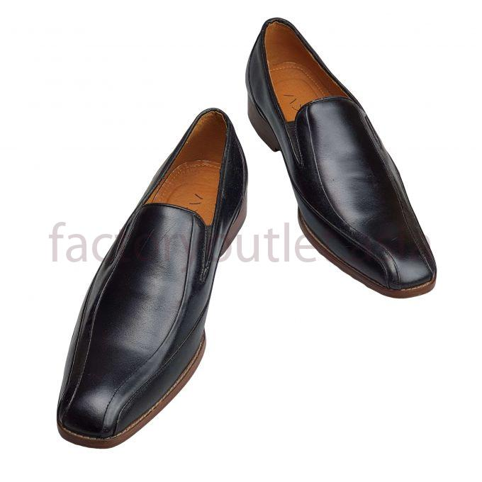 Hansamu men's dress shoes - HI leather sole Brown Black 1