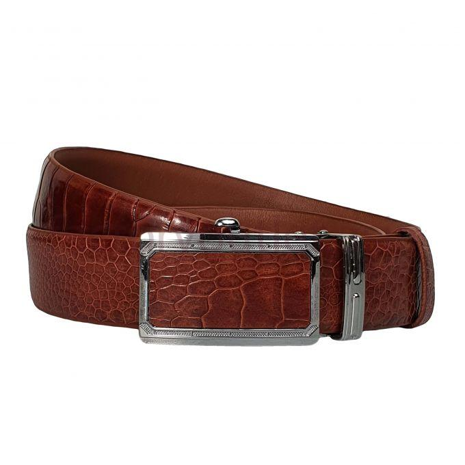 Fujita  Ostrich leather belts - AL Light Brown 1