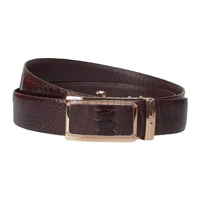 Fujita  Ostrich leather belts - AL Brown 1