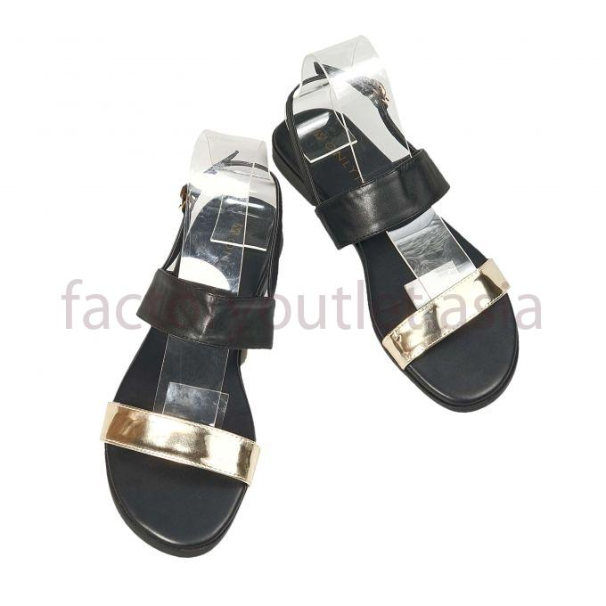 MONLY sandal - black gold strap LP Black 1