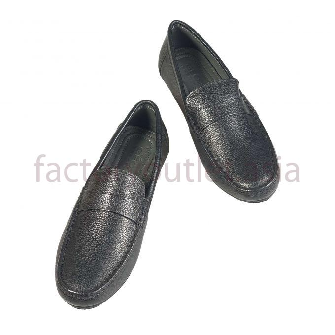 Geox men leather loafer penny - GDNG07 Black 1