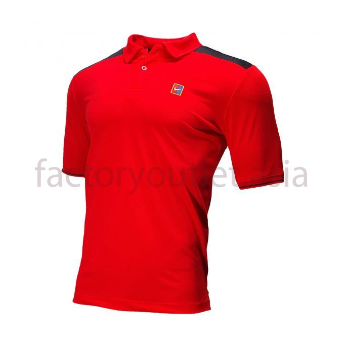Nike T-shirt - Polo logo ATNG115 Red and Black 1