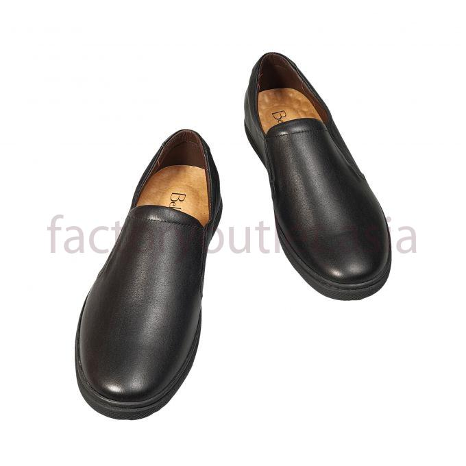 Bellanita leather loafers rubber soles -  BL Black 1