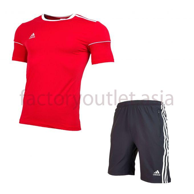 Set Adidas  Short - LO Red short black 1