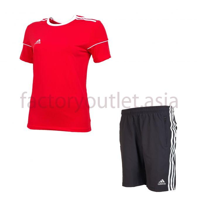 Set Adidas Short women - LO Red short black 1