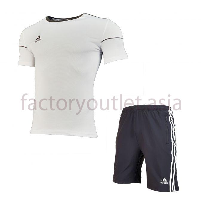 Set Adidas  Short - LO White short black 1