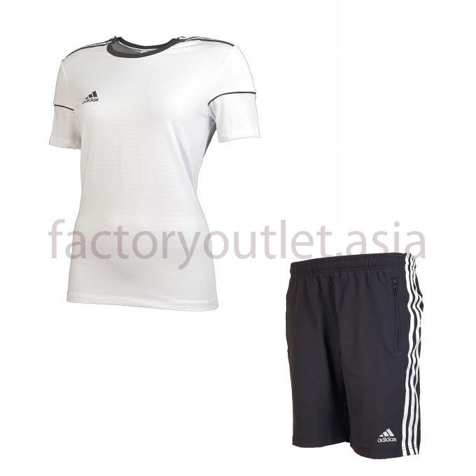 Set Adidas Short women - LO White short black 1