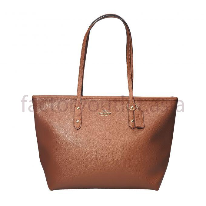Coach grain leather tote bags - DS Brown 1