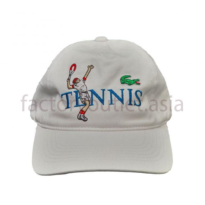 Lacoste tennis embroided motif cap - White 1